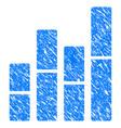 bar charts grunge icon vector image vector image