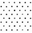 Black and White Polka Dot Seamless Pattern vector image