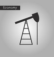black and white style icon gas production vector image