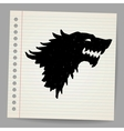 Black wolf for your design vector | Price: 1 Credit (USD $1)