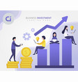 business finance growth team vector image vector image