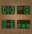 Cards with mandala Round Ornament Pattern Islam vector image
