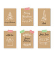 christmas greeting cards gift tags vector image vector image