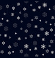 christmas seamless pattern with big and small vector image vector image