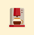 coffee machine icon flat style modern design vector image vector image