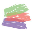 color brush painted watercolor art abstract paint vector image vector image