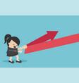 concept cartoon business woman reflection arrow vector image vector image
