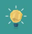 crumpled paper light bulb idea vector image vector image