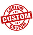 custom round red grunge stamp vector image vector image