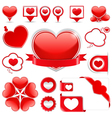 Design elements with hearts vector | Price: 1 Credit (USD $1)