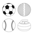 design of sport and ball icon collection vector image