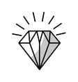 diamond flat isolated icon vector image