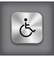 Disabled icon - metal app button vector image