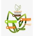 Eco leaves infographic concept vector image vector image