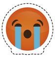 expression face emoji icon vector image vector image