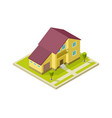 family house rural home exterior with garage vector image