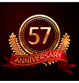 Fifty seven years anniversary celebration with vector image vector image