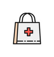 first aid kit doctor bag medical briefcase flat vector image vector image
