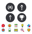 first place award cup icons prize for winner