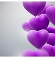 flying bunch of balloon hearts vector image vector image