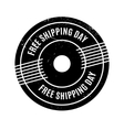 Free Shipping Day rubber stamp vector image vector image