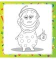 Fun Cartoon Character Phone Operator - coloring vector image vector image