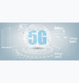 future technology display design 5g internet vector image vector image