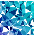 geometric abstract mosaic cold background vector image vector image