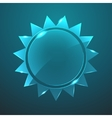 glass sun icon Eps10 vector image vector image