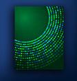 green brochure design set vector image vector image