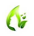 Green leaf skin care logo
