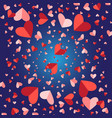 greeting lovely background with hearts vector image vector image