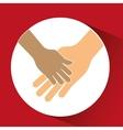hand shake design vector image vector image