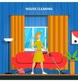 House Cleaning Background vector image vector image