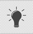idea icon flat vector image vector image