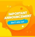 important announcement banner promotion