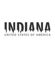 indiana usa united states of america text or vector image vector image