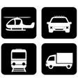 isolated transport icons vector image vector image