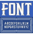 label font with ornament Blue vector image vector image