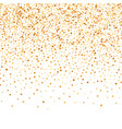 luxury golden confetti gold glittering background vector image
