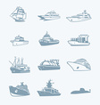 Marine traffic icons vector image vector image