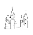 Old castle silhouette vector image vector image