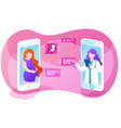 online doctor app interface pregnant woman vector image
