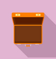 open suitcase icon flat style vector image vector image
