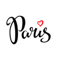 paris hand drawn lettering design element vector image