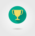 prize cup flat icon vector image