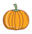 pumpkin hello autumn design icon vector image
