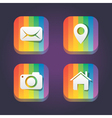 rainbow web icons vector image