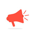 red megaphone icon with shadow vector image vector image
