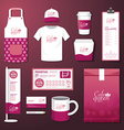 restaurant cafe set flyer menu package t-shirt cap vector image vector image